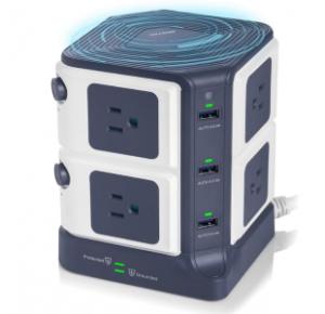 Bestek USB Power Strip With Wireless Charger