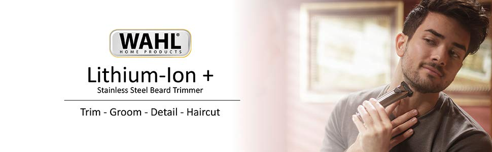 Wahl Lithium Ion+ Stainless Steel Trimmer - Model 9818