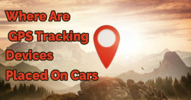 Where are GPS tracking devices placed on cars?