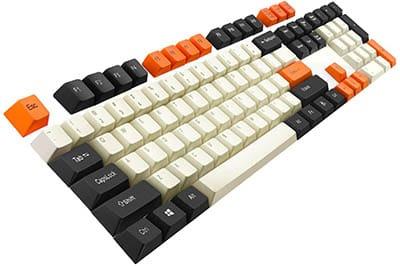 Keycaps-Havit-PBT-Gaming-Keycap-Mechanical-KeyboardBlack-White-Orange