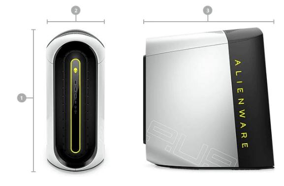 alienware aurora r10 dimension and weight