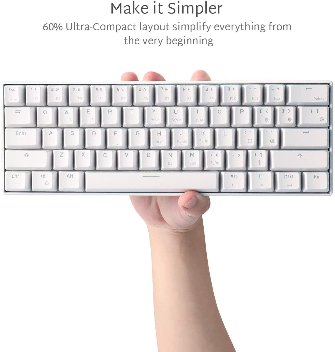 RK ROYAL KLUDGE RK61 Wireless 60% Mechanical Gaming Keyboard