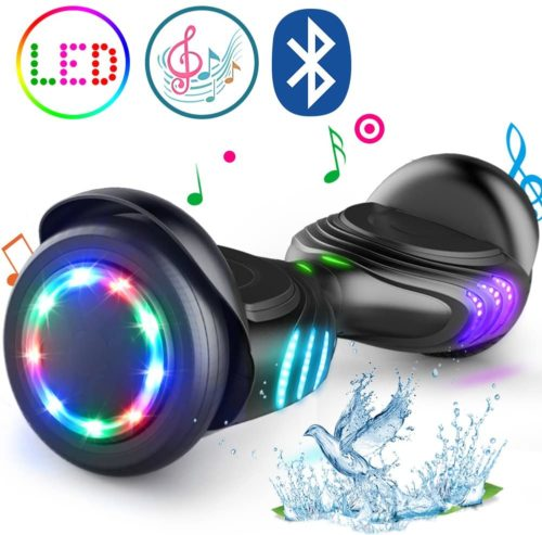 TOMOLOO Hoverboard with LED Lights Two-Wheel Self Balancing Scooter