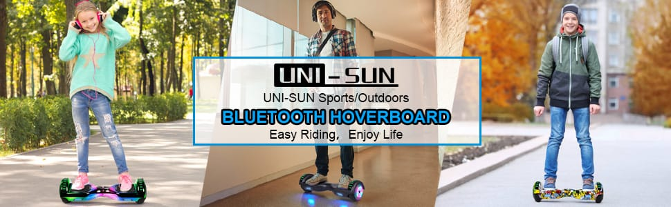 Two-Wheel Self Balancing Hoverboard with Bluetooth and Lights
