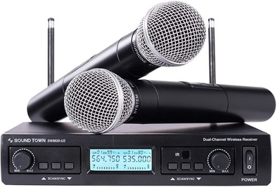 Sound Town 200-Channel Professional UHF Wireless Microphone System